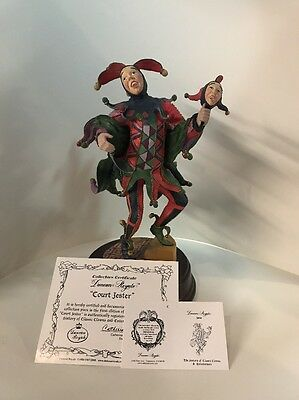 "Duncan Royale Figurine ""Jester"" Limited Edition Music Box 9"""