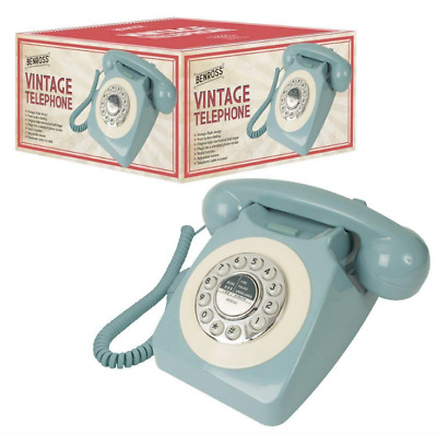 Benross 44540 Classic Retro Vintage Style Home Telephone - Blue