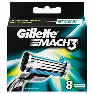 Gillette Mach 3 Razor Blades 8 Pack              **Only £9.85 for 8 Pack**