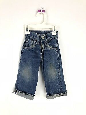Vintage 50s Levi's Denim Jeans Youth 503ZXX Big E Pants Kids Toddler Rivets Blue