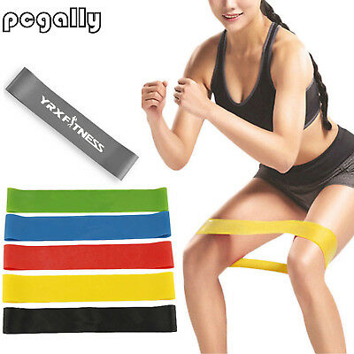 Elastic Resistance Loop Bands Yoga Exercise Gym Fitness Workout Stretch Tool