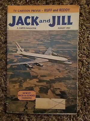 """Vintage """"Jack and Jill"""" Children's Magazine dated August, 1960"""