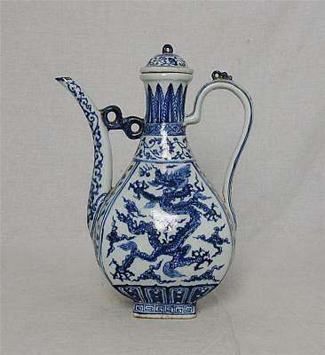 Chinese  Blue and White  Porcelain  Teapot  With  Mark      M3023