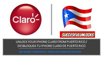Premium Unlock Service Iphone Claro Puerto Rico, 100% Success Rate