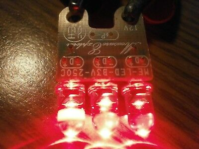 (4) Units 12VDC ME-LED-B3V-250C 3-LED Array T1-3/4 Water Clear Red