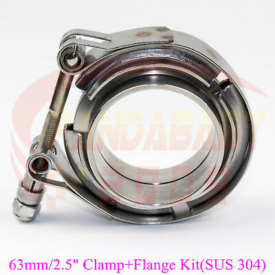 """2pcs 3/"""" Vband V-band Clamp Stainless Steel flange for Downpipe Turbo Exhaust"""