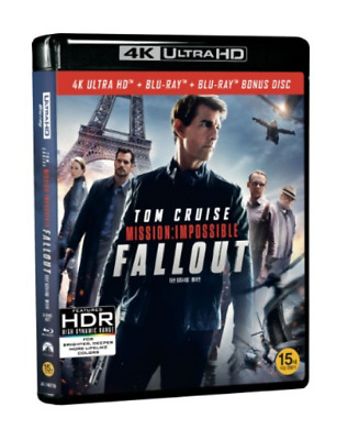 """"""" MISSION IMPOSSIBLE : FALL OUT  """" Blu-ray  4K (BD+4K UHD+BONUS DISC)"""