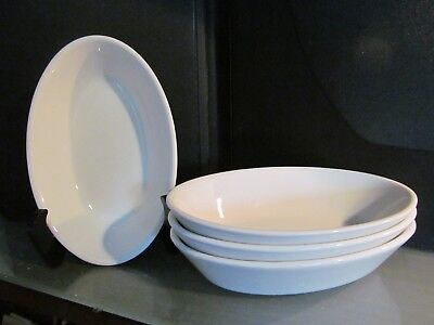 4 VIRGIN ATLANTIC airline tray oval entree bowl dish plate DUDSON china ENGLAND
