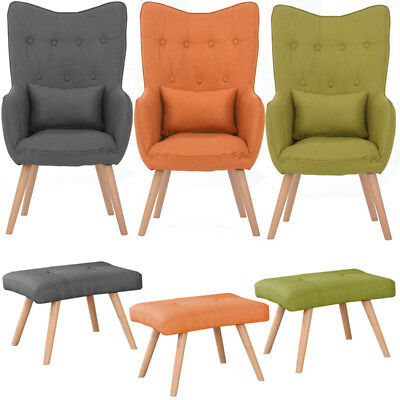 Stoff Armsessel Einzelsofa Lounge Clubsessel Relaxsessel Bar Cocktailsessel Neu