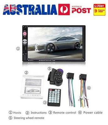 Bluetooth 7'' Portable HD Touch Screen Car Stereo MP5 Player USB GPS Navigation