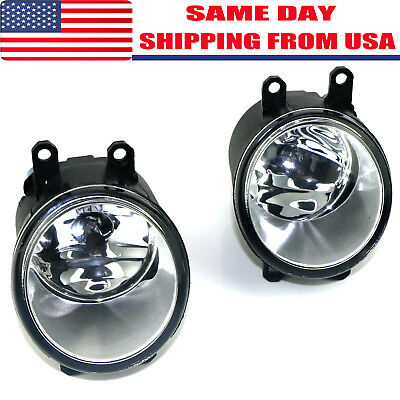 Pair of Fog Light Lamp Left Right RH LH Side Fit For Toyota Camry Yaris Lexus