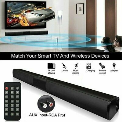Wireless Bluetooth Soundbar Speaker TV Home Theater Subwoofer with RCA & Remote