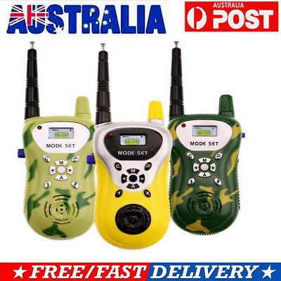 2X Mini Walkie Talkie For Child Kid Toy 2 Way Radio Outdoor Interphone Radio Set