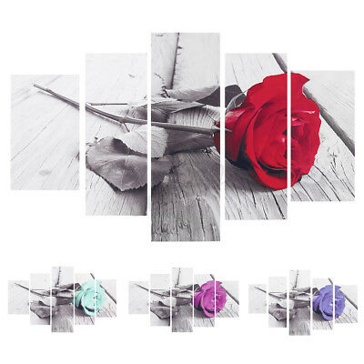 5Pcs Unframed Modern Art Oil Painting Print Canvas Picture Room Home Wall Decor