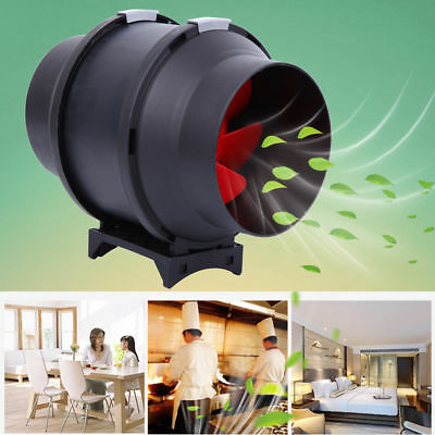 "6"" Inline Duct Fan Hydroponic Tent Extractor Booster Blower w/ Speed Controller"