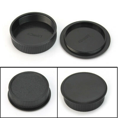 Plastic Front & Rear Cap Cover For M42 Digital Camera Body and Lens