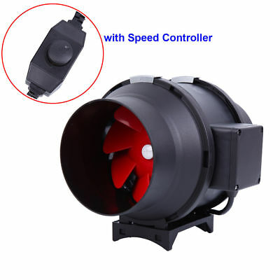 "6"" inch Inline Duct Plastic Booster Fan Ventilation Air Blower 395CFM Controller"