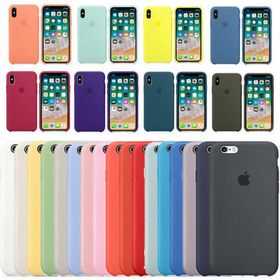 Genuine Silicone Sottile Custodia Cover per Apple iPhone 8/7/6s + X/XR/XS MAX