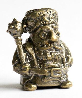 Thimble COSSACK with mace Brass Metal Russian Souvenir Collectible