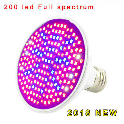200 Led Plant full spectrum Light bulb Flower Grow Greenhouse For seed Vegetable