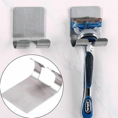 Stainless Steel Shaver Toothbrush Holder Washroom Wall Cup Hook Razor Bathroom