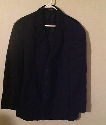 stafford brand Woolmark suit for men, 100% wool, black color, pre owned.