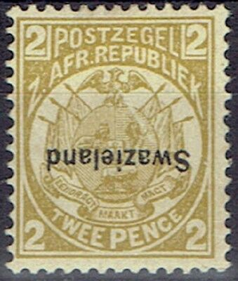 Swaziland 1889/1902 Transvaal optd 2d perf 12 1/2 inverted overprint very fine