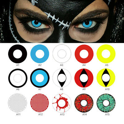 Halloween Color Contacts Lenses Party Cosmetic Cosplay Vampire Colored Lens Prat