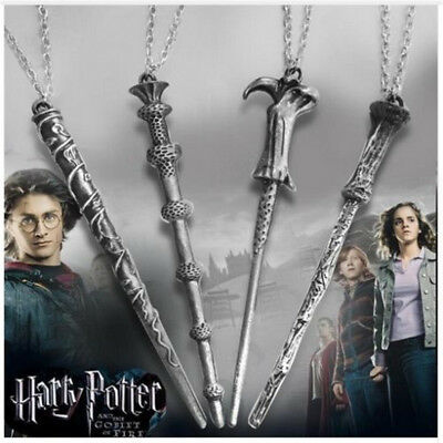 Vintage Harry Potter Magic Wand Voldemort Hermione Necklace Pendant Jewelry