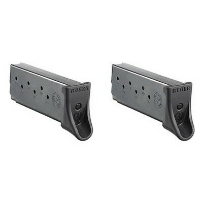 Ruger 90642 Magazine 9mm 7 Round Fits LC9/LC9S w/ Finger Rest Blue (2 Pack)