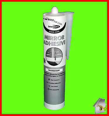 Mirror Adhesive Glue Silicone Mirror Mate from Bond it Super Strong and fast set
