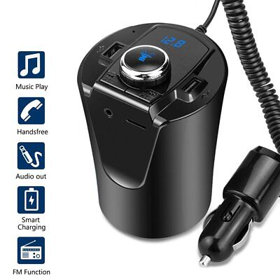 FM Transmitter Bluetooth Car Kit MP3 Player USB Charger Handsfree For Samsung LG