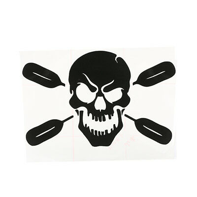 Skull with Oars Paddle Vinyl Decal Sticker Kayak Fishing Car Truck Canoe