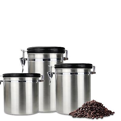 AIRTIGHT COFFEE FLOUR Sugar Stainless Steel Container Dili ...