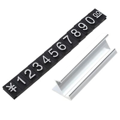 Jewelry store metal ground Arabic numbers combined price tags 10 groups H8X6