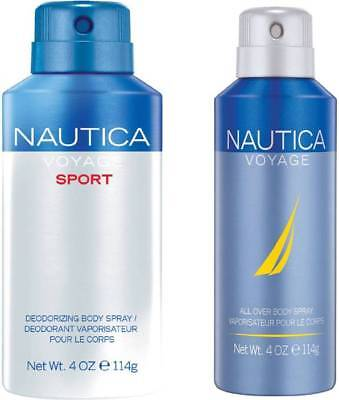 Nautica Voyage and Sport Deodorant Spray - For Men  (300 ml, Pack of 2)