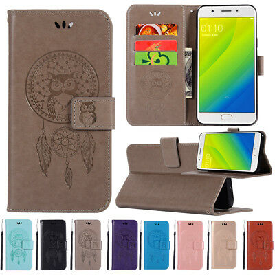 FOR OPPO A37 A75 A77 F9 F7 F5 Slim Magnetic Flip Leather