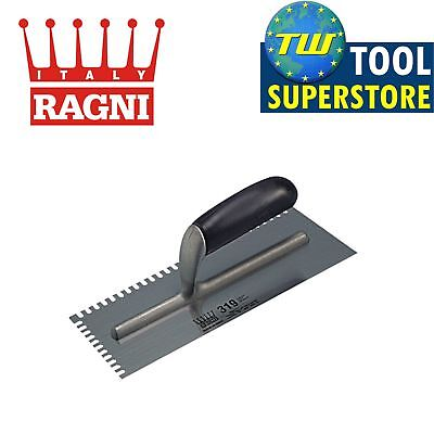 Ragni Mastic Ceramic Tile Trowel 4mm Serrated Edge U Notched 11 x 4.3/4in R319-4