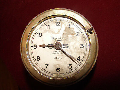 Antique Ripaults Car Clock Working Order