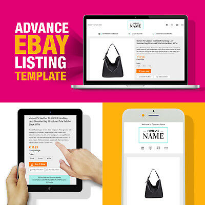 Advanced eBay Design Listing Template HTML Mobile Friendly 2019 Compliant HTTPS