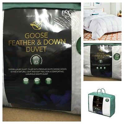 Luxury Goose Feather And Down Duvet Quilt High Quality Soft Duvet Tog R 13.5