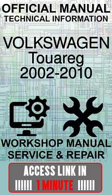 #access Link Official Workshop Manual Service Volkswagen Touareg 2002-2010