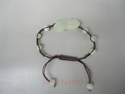 Collecting Charming China Jasper Manual Sculpture Mythical Wild Animal Bracelet