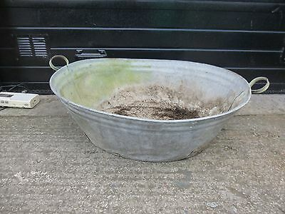 Extra Large Vintage Galvanised Oval Tin Bath Tub Garden Planter