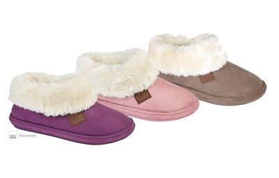Jo /& Joe Ladies Elgin Cable Knitted Button Tab Slipper Boots In 3 UK Sizes