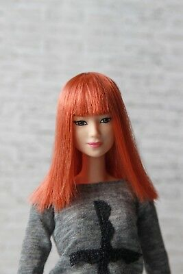 Ginger red wig for Barbie doll 4 inch