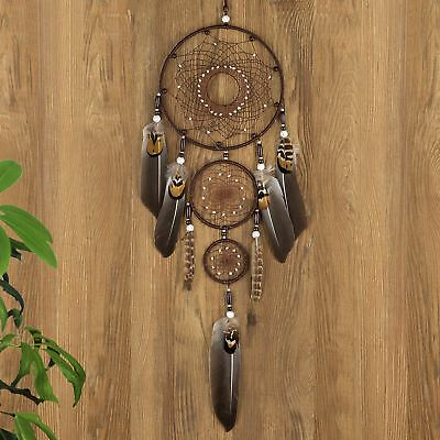 Ricdecor Dream catcher handmade traditional white feather dream catcher wall