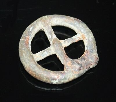 Ancient Celtic bronze amulet - representing sun and four seasons