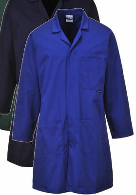 Portwest C852 Lab Food Industry warehouse Laboratory Doctor Medical Coat S - 4XL
