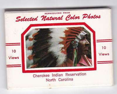 Cherokee Indian Reservation North Carolina 10 views from color photos souvenir